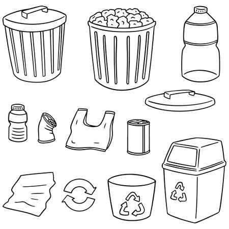 Vektor-Satz von Recycling-Müll Vektorgrafik