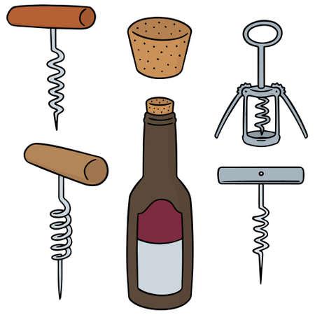 Set of wine opener