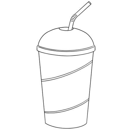 vector set of beverage cup Illustration