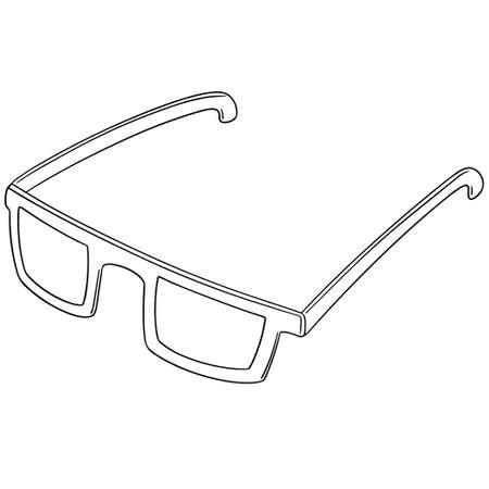 vector set of eyeglasses Vector Illustration