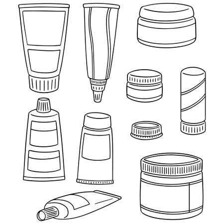 Vektor-Satz von topischen kosmetischen und topischen Medikamenten Standard-Bild - 87744937