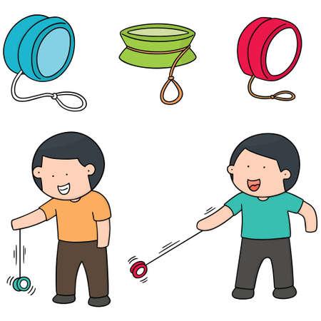 cute cartoon: vector set of yoyo