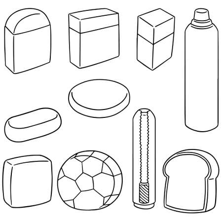 art piece: vector set of eraser