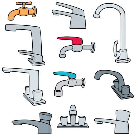 simple: vector set of faucet Illustration