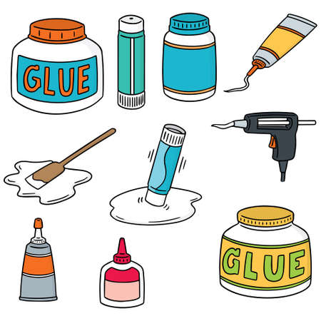 Set of glue icons.