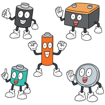 simple: vector set of battery