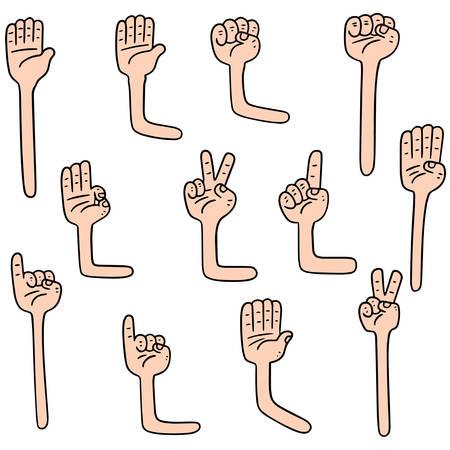 漫画の腕のベクトルを設定  イラスト・ベクター素材
