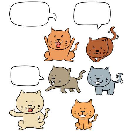 cute cartoon: vector set of cat