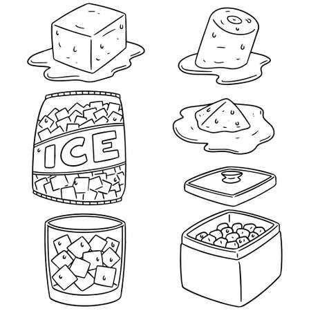 simple: vector set of ice