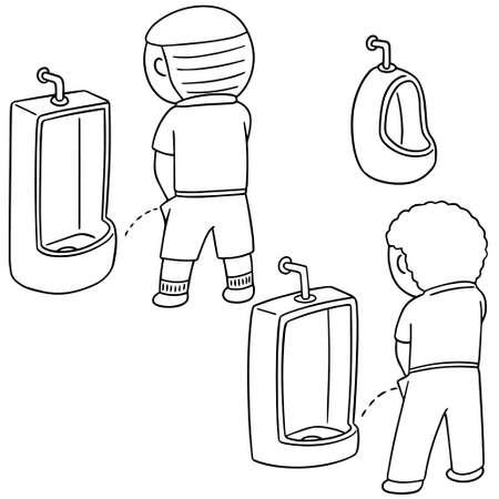 vector set van man plassen Stock Illustratie