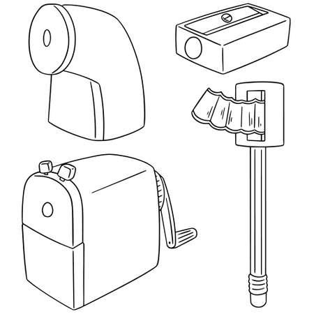 cute cartoon: vector set of pencil sharpener Illustration