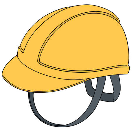 A vector set of safety helmet on white background.