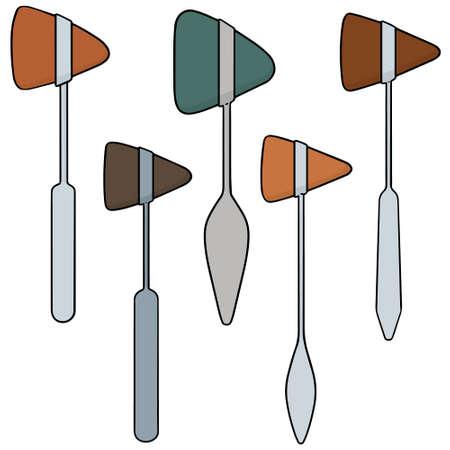 vector set of reflex hammer