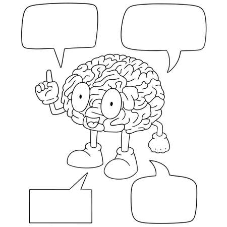 vector set of brain cartoon