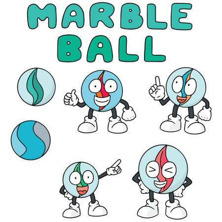 simple: Set of marble balls