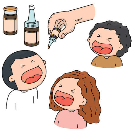 cute cartoon: Oral polio vaccine