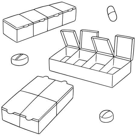 cute cartoon: Set of pill box