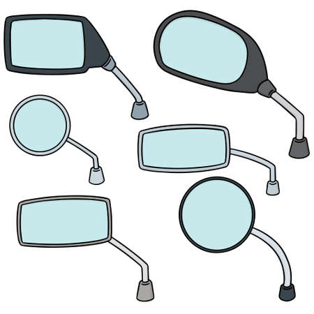 simple: Set of rear view mirrors Illustration