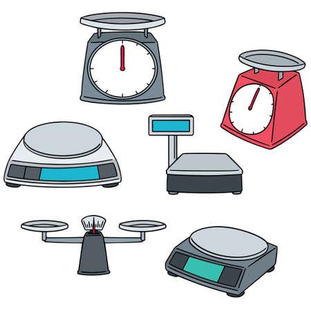 vector set of weighing machine 向量圖像