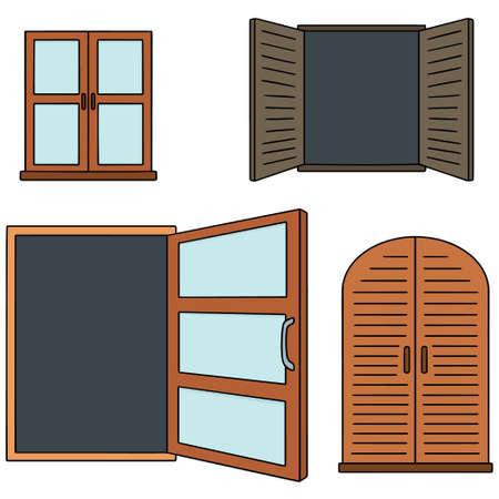 residence: vector set of window Illustration