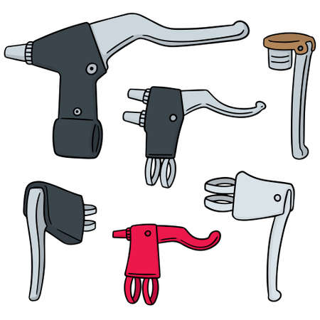 vector set of bicycle brake lever