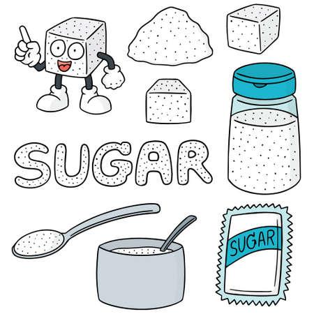 sugar cube: vector set of sugar