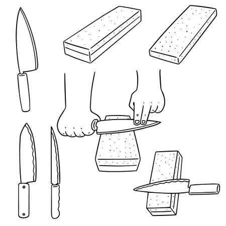 vector set of whetstone