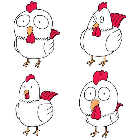 illustrating: vector set of chicken