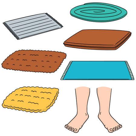 welcome mat: vector set of foot wipe