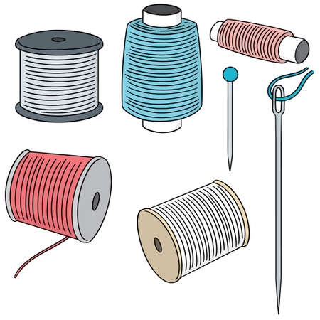 vector set of sewing accessories Illustration