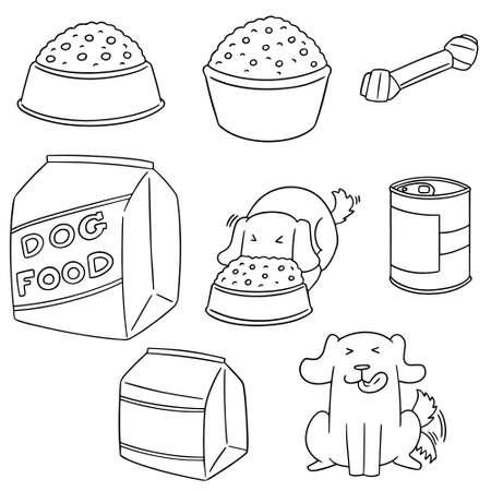 Vector set of dog food
