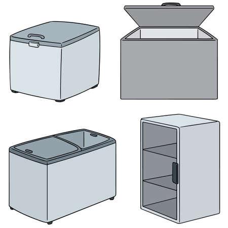 Set of freezer illustration.