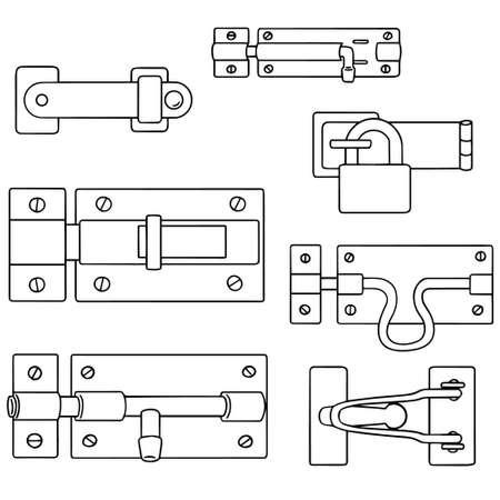 vector set of latch Vektoros illusztráció