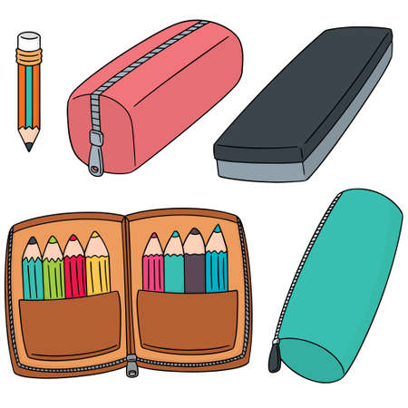 vector set of pencil case