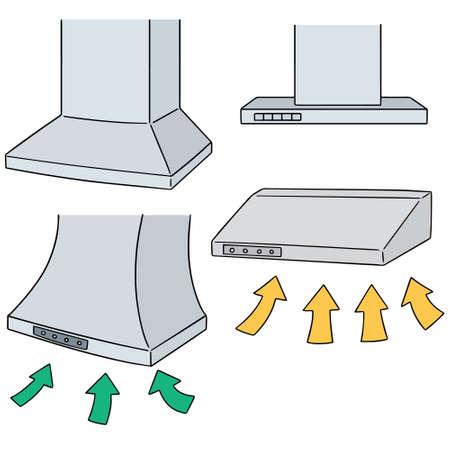vector set of vent hood Vetores
