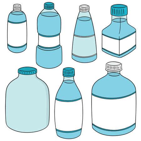 vector set of bottle Vektoros illusztráció