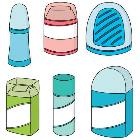vector set of deodorant