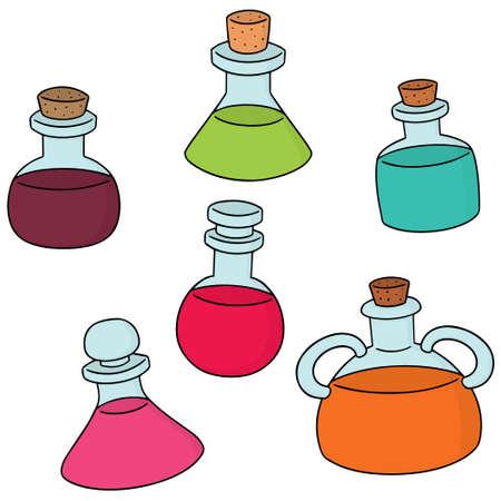 Set of potion bottles icon.