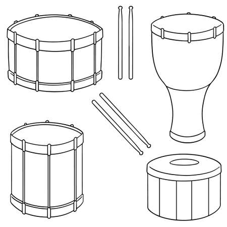 Set of drums icon.