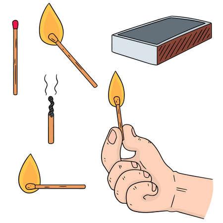 Vector set of matches Illustration