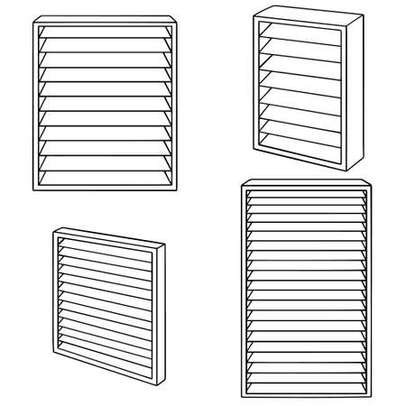 vector set of louvers on white background. 向量圖像