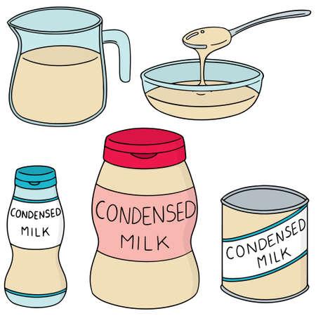 Set of condensed milk icon.