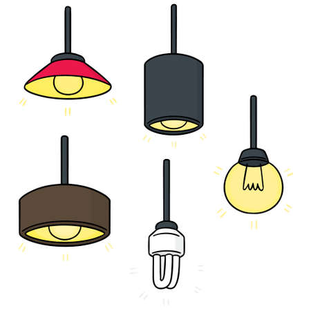 vector set of ceiling lamp Vectores