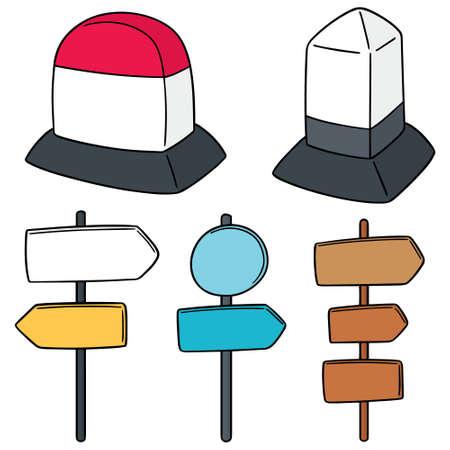 Vector Reihe von Meilenstein und Richtung Post