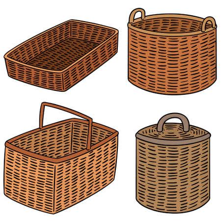 Set of wicker basket.
