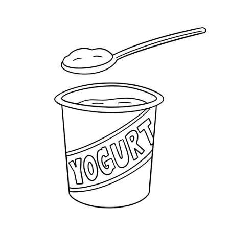 Illustration de yogourt Banque d'images - 91375171