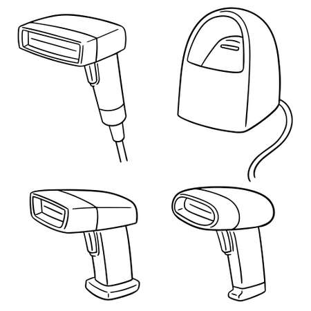 vector set of barcode reader Illustration