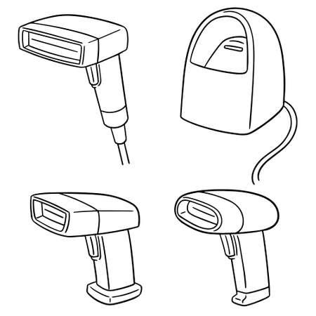 vector set of barcode reader Иллюстрация