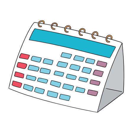 vector calendar on white background.