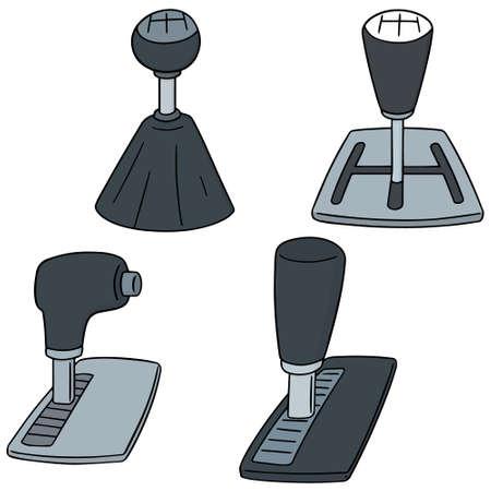 Set of car gear shift icon.